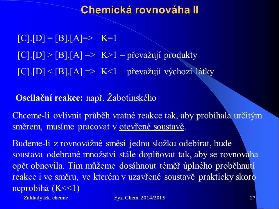 Chemická rovnováha II [C].[D] = [B].[A]=> K=1